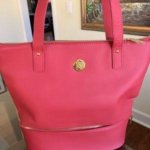 Joy mangano leather tote bag NWOT
